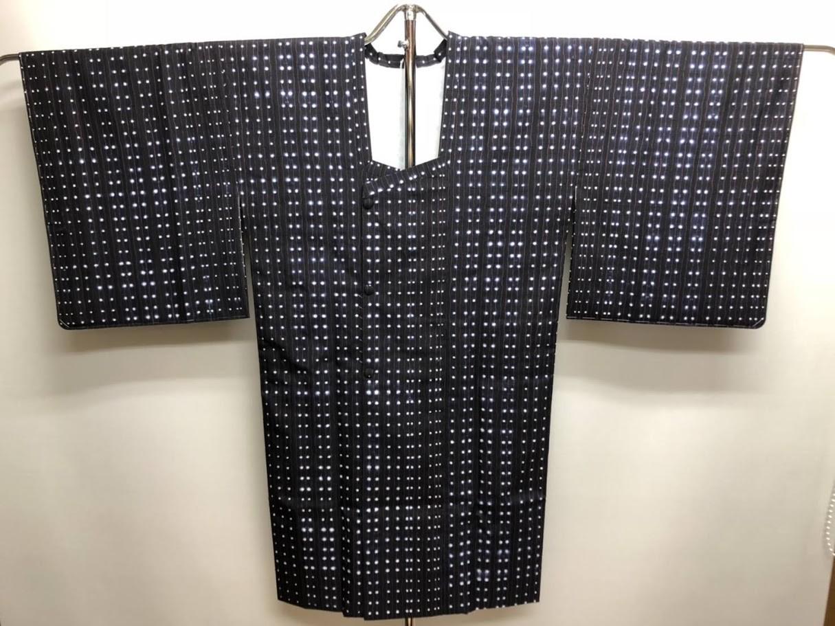 亀甲衿+松皮菱仕立てのコート/仕立て替え